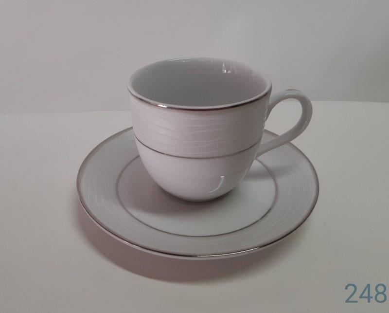 Σετ Φλυτζάνια Καφέ 6τμχ 120ml Πορσελάνης 248 (Υλικό: Πορσελάνη) – AB – 6-248-coffee
