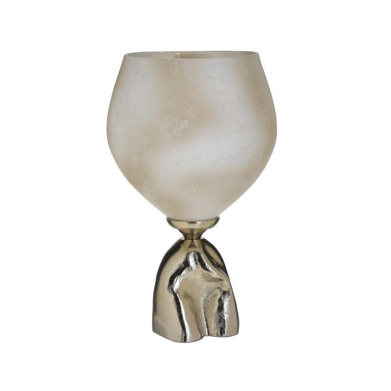 Βάζο Αλουμινίου-Γυάλινο inart 22×36εκ. 3-70-162-0173 (Υλικό: Γυαλί, Χρώμα: Χρυσό ) – inart – 3-70-162-0173