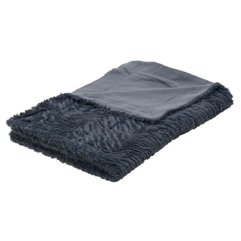 Ριχτάρι Υφασμάτινο inart 120×160εκ. 3-40-508-0005 (Ύφασμα: Polyester, Χρώμα: Γκρι) – inart – 3-40-508-0005