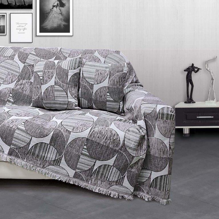Διακοσμητική Μαξιλαροθήκη Σενίλ Ζακάρ 40×40εκ. Marsa Grey Sb home (Ύφασμα: Chenille, Χρώμα: Γκρι) – Sb home – 5206864058255