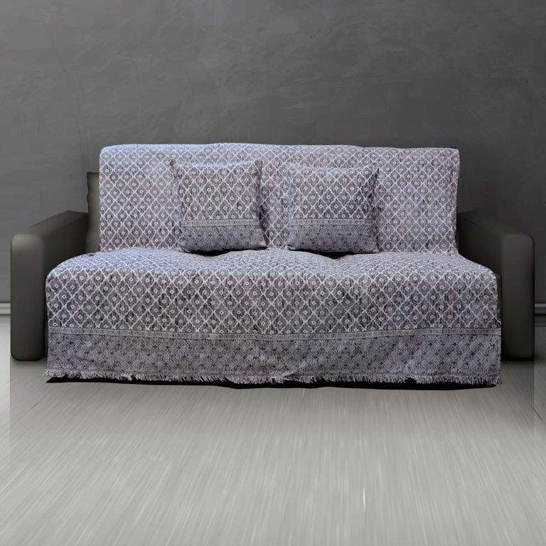Ριχτάρι Σενίλ Ζακάρ Διθέσιου Καναπέ 180×240εκ. Toulouse Silver Sb home (Ύφασμα: Chenille, Χρώμα: Γκρι) – Sb home – 5206864057838