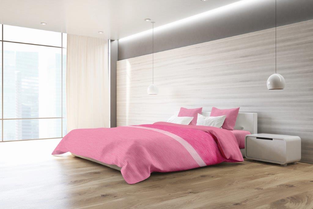 Σετ Παπλωματοθήκη Βαμβακερή Υπέρδιπλη 220x260εκ. Exotica Pink Makis Tselios (Ύφασμα: Βαμβάκι 100%, Χρώμα: Ροζ) - Makis Tselios - 125050123456