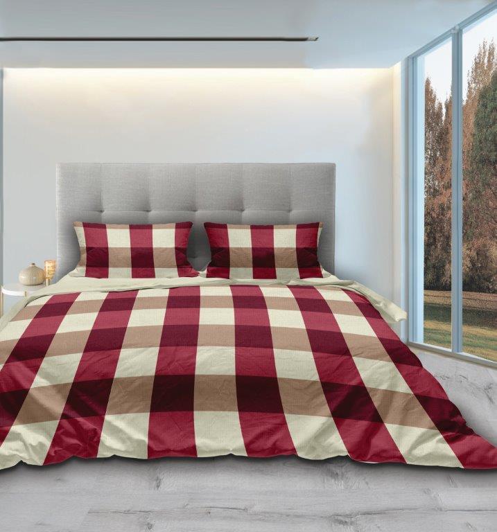 Σετ Παπλωματοθήκη Φανελένια Ημίδιπλη 170×240εκ. Piazze Red Makis Tselios (Ύφασμα: 100% Βαμβακερό-Φανέλα, Χρώμα: Κόκκινο) – Makis Tselios – 135100123456