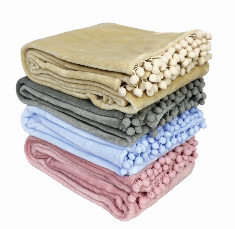 Κουβέρτα Fleece Υπέρδιπλη 220×240εκ. Pommy Pink Makis Tselios (Ύφασμα: Polyester) – Makis Tselios – 322370123456