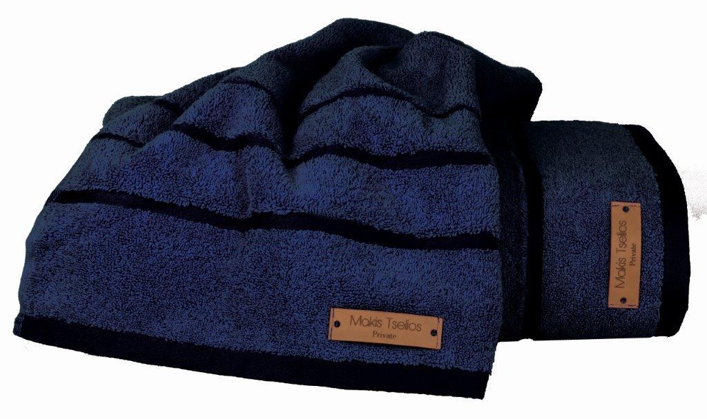 Σετ Πετσέτες 2τμχ Βαμβακερές Prive Blue Makis Tselios (Ύφασμα: Βαμβάκι 100%, Χρώμα: Μπλε) – Makis Tselios – 283960123456