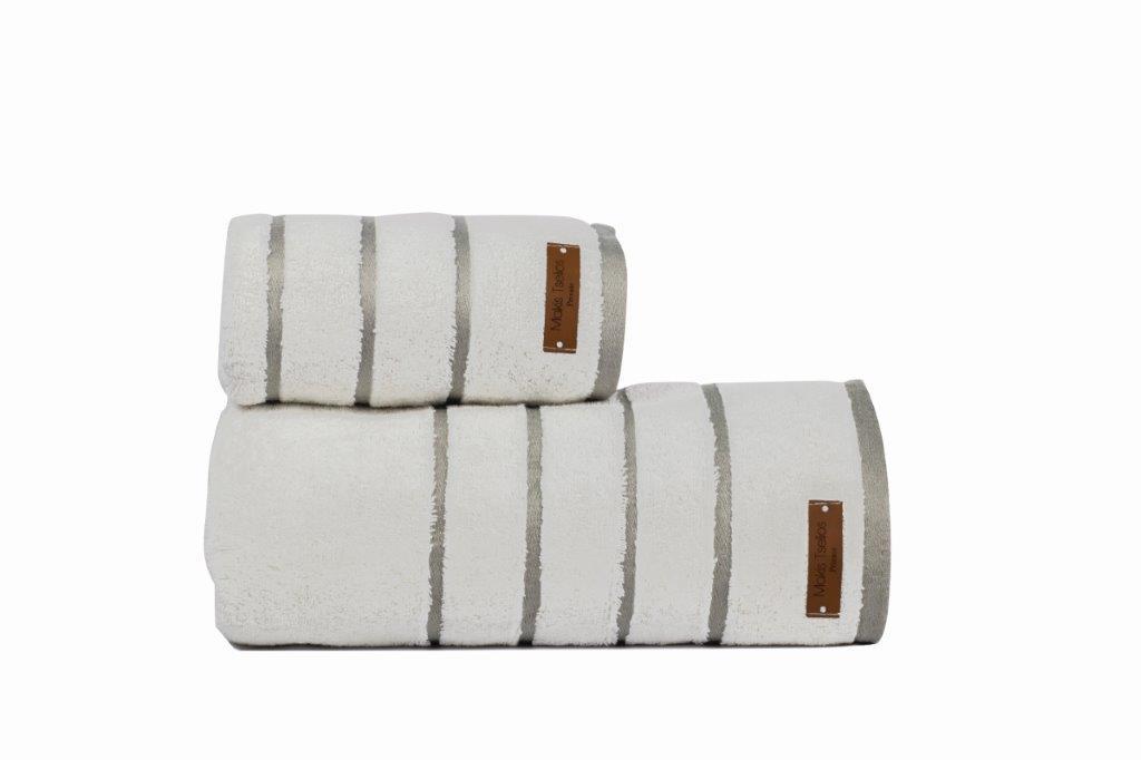 Πετσέτα Μεμονωμένη Βαμβακερή 50×90εκ. Prive White Makis Tselios (Ύφασμα: Βαμβάκι 100%, Χρώμα: Λευκό) – Makis Tselios – 290300123456