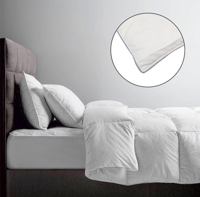 Πάπλωμα Πουπουλένιο Υπέρδιπλο 220×240εκ. Le Blanc (Υλικό: Πούπουλο, Χρώμα: Λευκό) – Le Blanc – 7113341-2