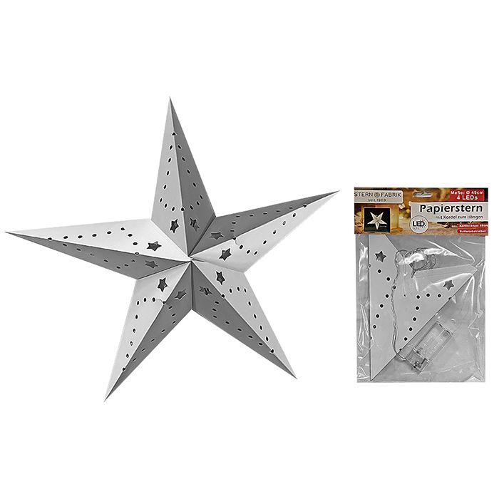 Διακοσμητικό Φωτιστικό Αστέρι Χάρτινο 4Led 45εκ. Xmasfest (Υλικό: Χαρτί) – Xmas fest – 93-2800