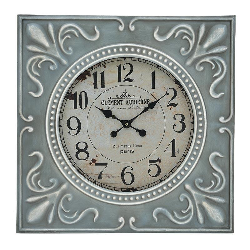 Ρολόι Τοίχου Ξύλινο Αντικέ inart 60x4x60εκ. 3-20-773-0346 (Υλικό: Ξύλο, Χρώμα: Γαλάζιο ) – inart – 3-20-773-0346