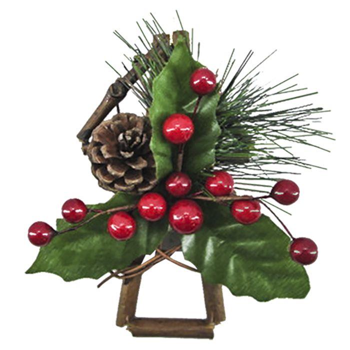 Διακοσμητικό Δέντρο 15εκ. Xmasfest 93-1734 Red (Χρώμα: Κόκκινο) – Xmas fest – 93-1734-red