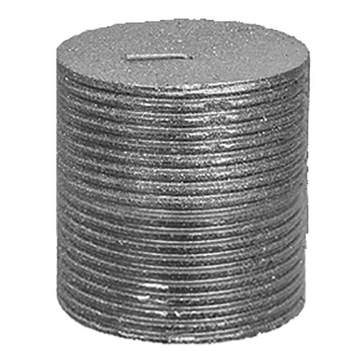 Κερί Κορμός Με Χρυσόσκονη 7×7,5εκ. Xmasfest 93-455 Silver (Χρώμα: Ασημί ) – Xmas fest – 93-455-silver