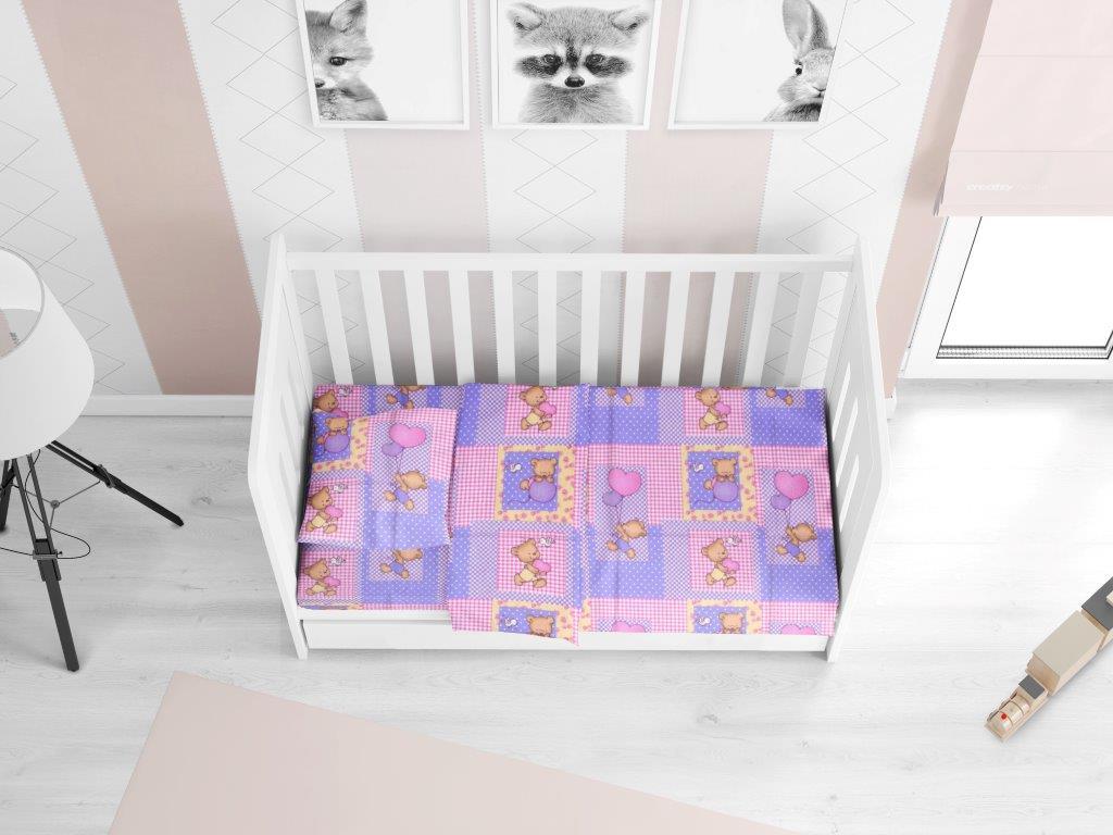 Σεντόνι Φανελένιο Με Λάστιχο Κούνιας 70×140+15εκ. Baloon 75 Pink Dimcol (Ύφασμα: Φανέλα, Χρώμα: Ροζ) – DimCol – 1916158408307579