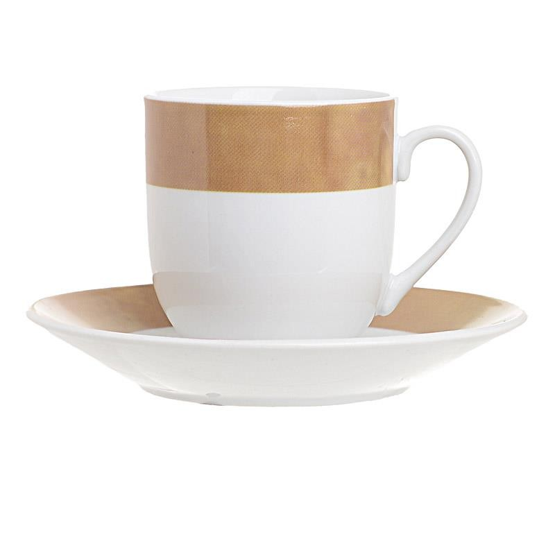 Σετ Φλυτζάνια Καφέ 6τμχ Πορσελάνης inart 90ml 3-60-356-0009 (Υλικό: Πορσελάνη, Χρώμα: Λευκό) - inart - 3-60-356-0009