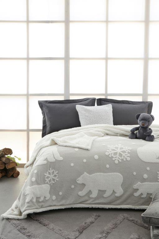 Κουβέρτα Fleece-Sherpa Ημίδιπλη 160×220εκ. Polo Palamaiki (Χρώμα: Λευκό) – Palamaiki – 5205857214074