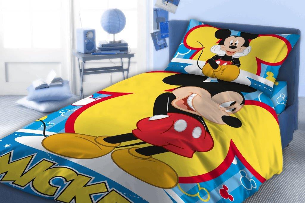 Σετ Σεντόνια Βαμβακερά Μονά 160×240εκ. Mickey 560 Digital Print Disney Dimcol (Ύφασμα: Βαμβάκι 100%) – Disney – 2122615301056099