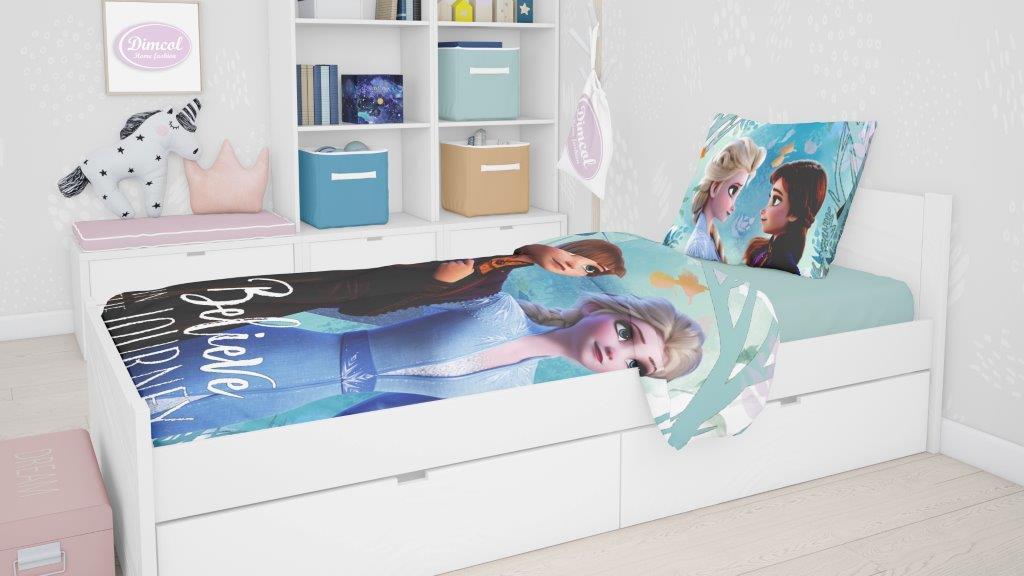 Σετ Σεντόνια Βαμβακερά Μονά 165×245εκ. Frozen 984 Digital Print Disney Dimcol (Ύφασμα: Βαμβάκι 100%) – Disney – 2124817100698499
