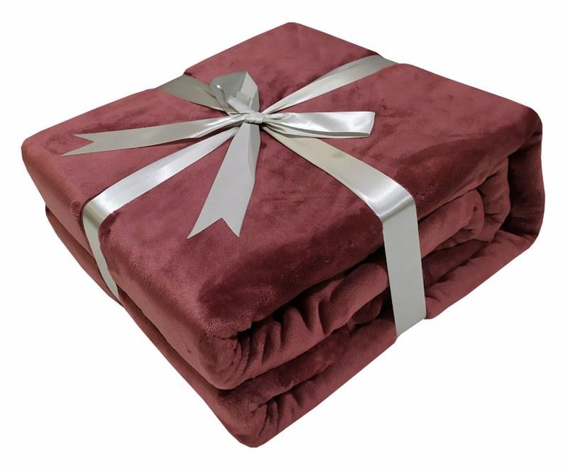 Κουβέρτα Velour Flannel Διπλή 200×240εκ. Rotten Apple 7001228-5 (Υλικό: Flannel 100%, Ύφασμα: Velour, Χρώμα: Σάπιο Μήλο ) – KOMVOS HOME – 7001228-5