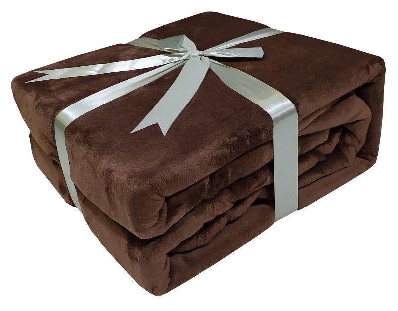 Κουβέρτα Velour Flannel Διπλή 200×240εκ. Brown 7001228-9 (Υλικό: Flannel 100%, Ύφασμα: Velour, Χρώμα: Καφέ) – KOMVOS HOME – 7001228-9