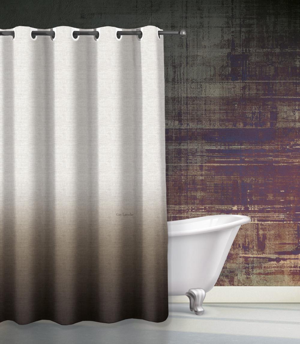 Κουρτίνα Μπάνιου 180×185εκ. Polyester Mykonos Wenge Guy Laroche (Ύφασμα: Polyester) – Guy Laroche – 1128030217005
