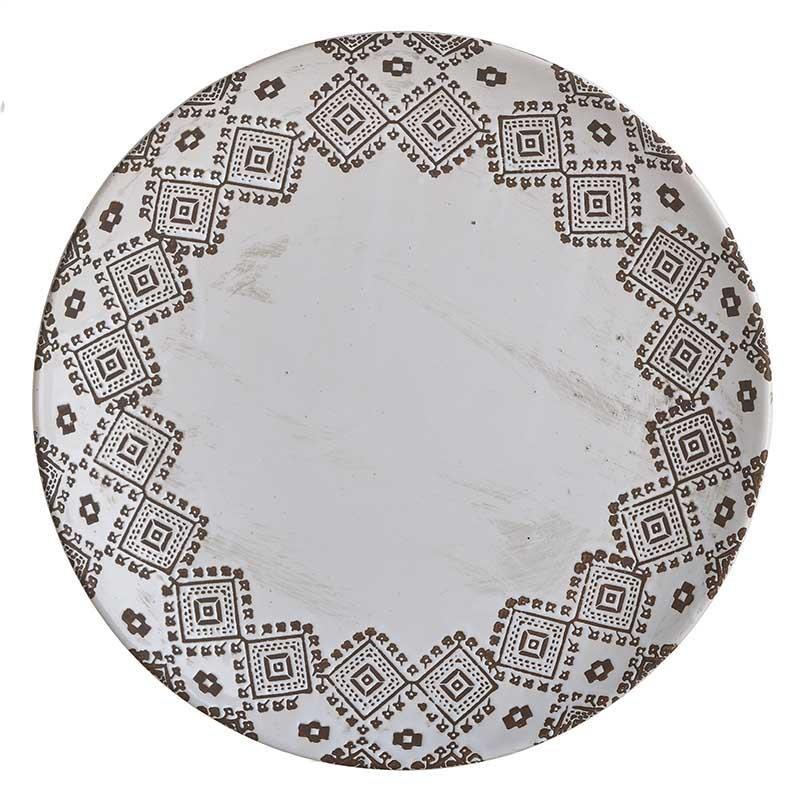 Διακοσμητική Πιατέλα Κεραμική Αντικέ inart 33,5×5εκ. 3-70-685-0222 (Υλικό: Κεραμικό, Χρώμα: Λευκό) – inart – 3-70-685-0222