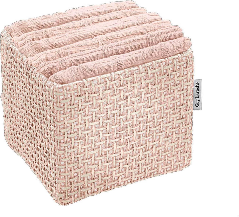Σετ Πετσέτες 6τμχ Guy Laroche Σε Κουτί Guest Old Pink - Guy Laroche - guest-set- μπανιο αξεσουάρ μπάνιου