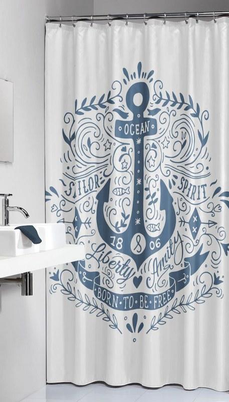 Κουρτίνα Υφασμάτινη «Anchor Blue» Sealskin 180×200εκ. – sealskin – 233651324