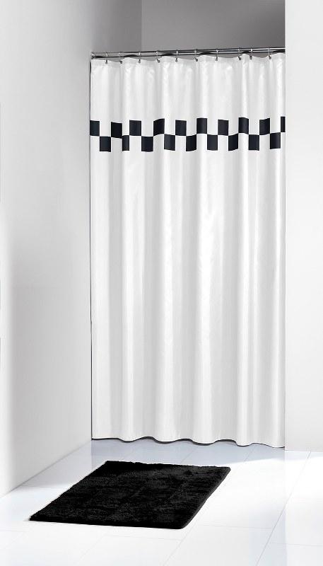 Κουρτίνα Υφασμάτινη «Bloki Black» 180×200εκ. sealskin – Joy Bath Accessories – 233051310