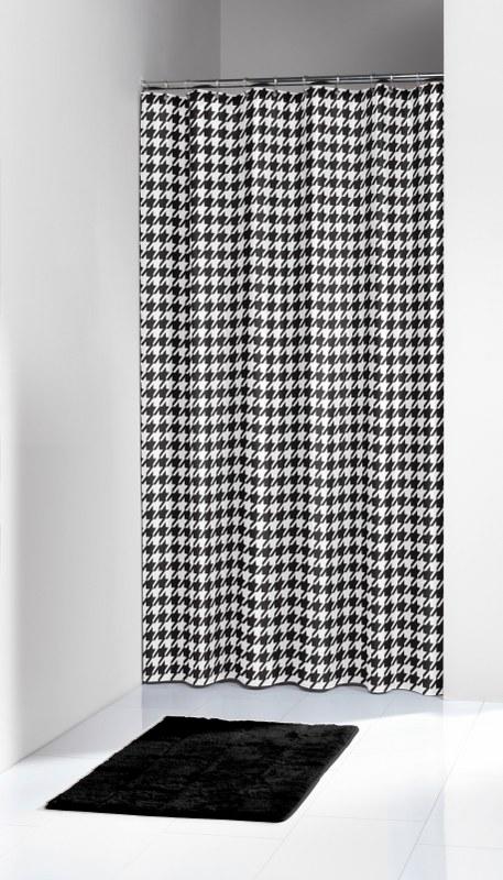 """Κουρτίνα Μπάνιου Υφασμάτινη """"Seamless Black"""" 180x200εκ. sealskin - Joy Bath Acce λευκα ειδη mπάνιο κουρτίνες μπάνιου"""