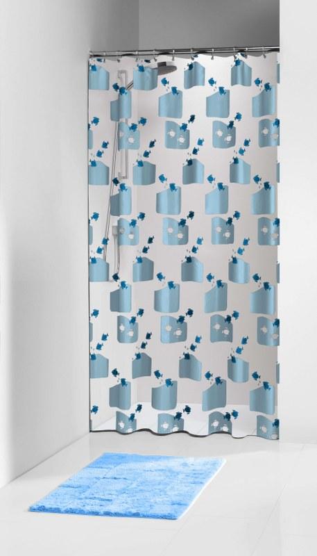 """Κουρτίνα Μπάνιου Πλαστική """"Tropic Blue """" Sealskin 180x200εκ. (Υλικό: Πλαστικό) - sealskin - 66212571324"""