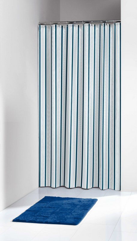 """Κουρτίνα Μπάνιου Πλαστική """"Stripes Blue"""" Sealskin 180×200εκ. – sealskin – 66212531322"""
