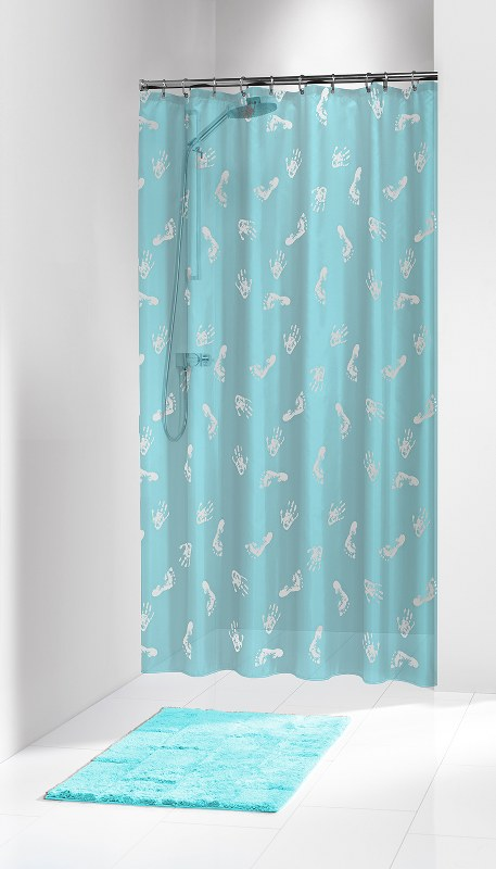 """Κουρτίνα Μπάνιου Πλαστική """"Amy Turquoise"""" Sealskin 180×200εκ. – sealskin – 210701335"""