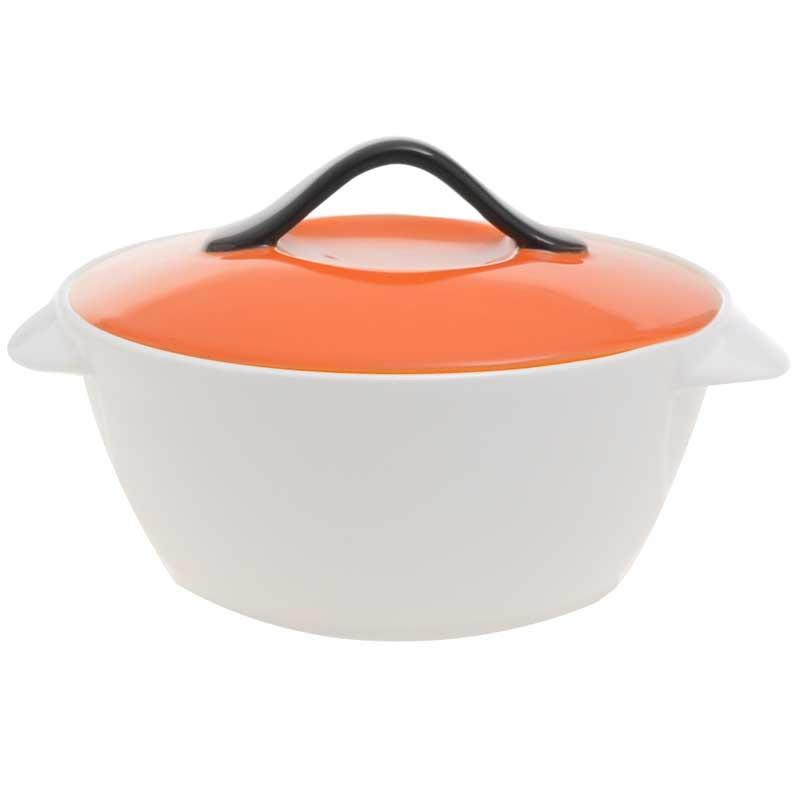 Πυρίμαχο Πορσελάνινο Με Καπάκι 25x21x12εκ. – OEM – ZS 4725-orange