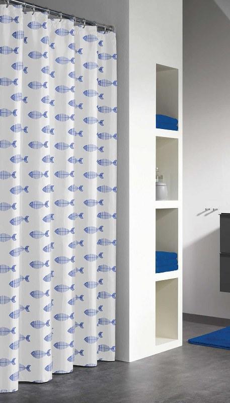 """Κουρτίνα Μπάνιου Πλαστική """"Nemo Blue"""" Sealskin 180×200εκ. – sealskin – 210851324"""