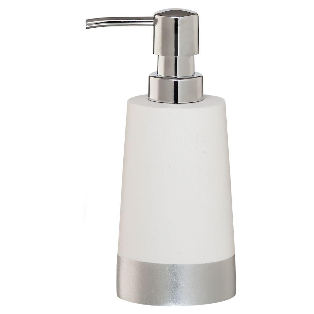 """Ντισπένσερ """"Glossy"""" Polyresin Silver Sealskin 362320218 (Υλικό: Polyresin) – sealskin – 362320218"""