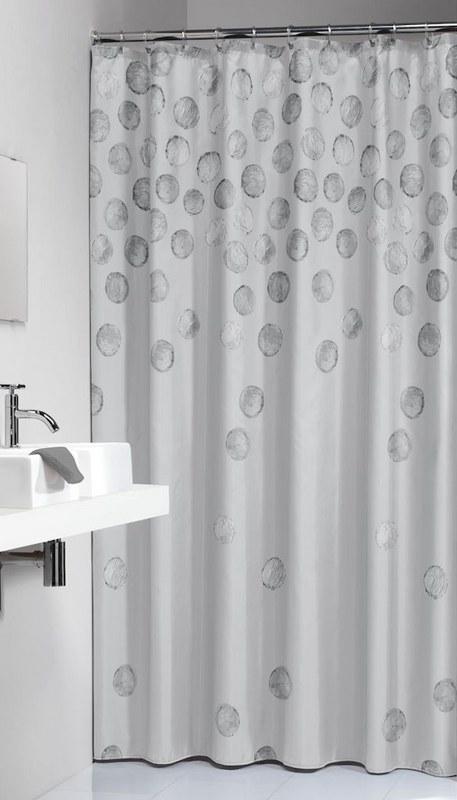 """Κουρτίνα Μπάνιου Πλαστική """"Spots Silver"""" Sealskin 180×200εκ. – sealskin – 210911318"""