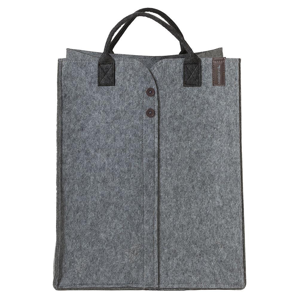 Καλάθι Απλύτων Τσόχινο «Felt Grey» 42x32x52εκ. Sealskin 361961512 – sealskin – 361961512