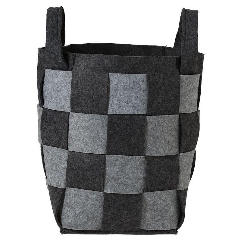 Καλάθι Απλύτων Τσόχινο «Weave Grey» 30x30x46εκ. Sealskin – sealskin – 361982012