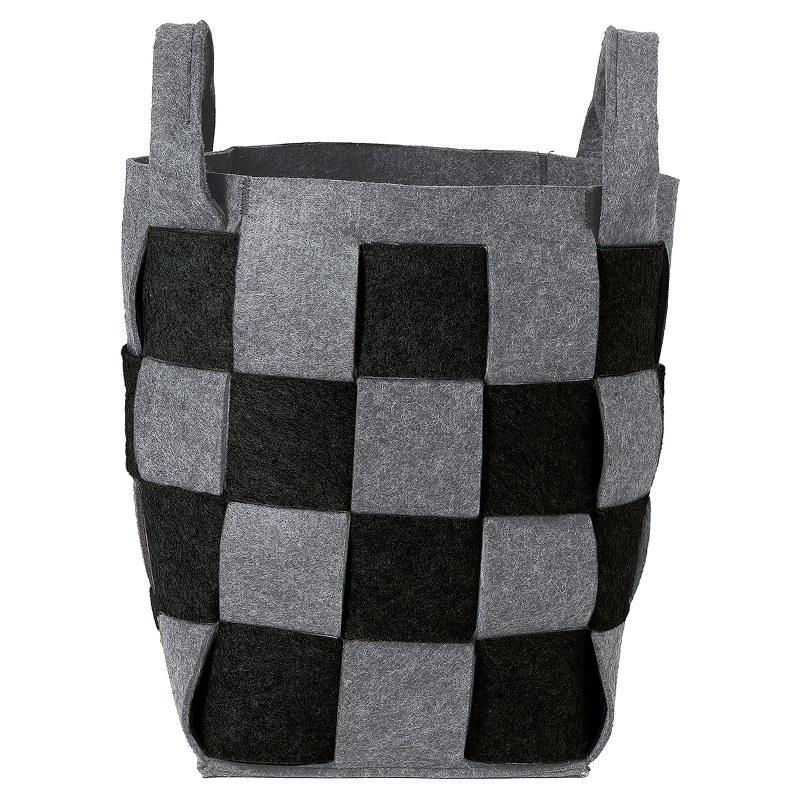 Καλάθι Απλύτων Τσόχινο «Weave Black» 30x30x46εκ. Sealskin – sealskin – 361982019