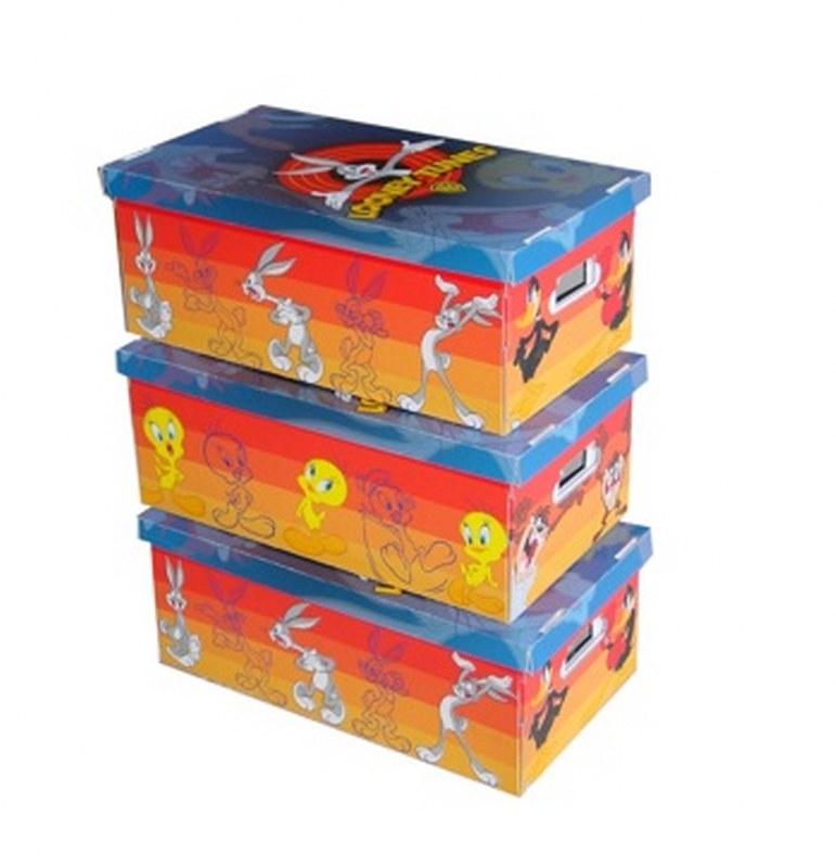 Κουτί Φύλαξης Σετ 3τμχ «Looney Tunes» 52x29x20εκ. 11130 – ORDINETT – 11130