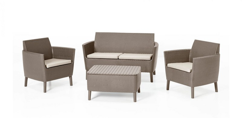 Σετ Κήπου 4τμχ Salemo Allibert Lounge Set - Allibert - salemo-lounge-set-cappuccino