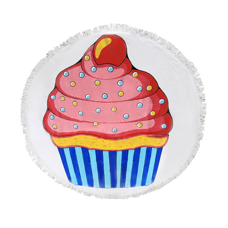 Πετσέτα Θαλάσσης Στρογγυλή «Cup Cake» – OEM – 274-1