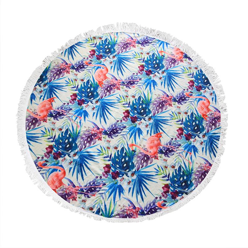 Πετσέτα Θαλάσσης Στρογγυλή «Flamingo» – OEM – 274-4