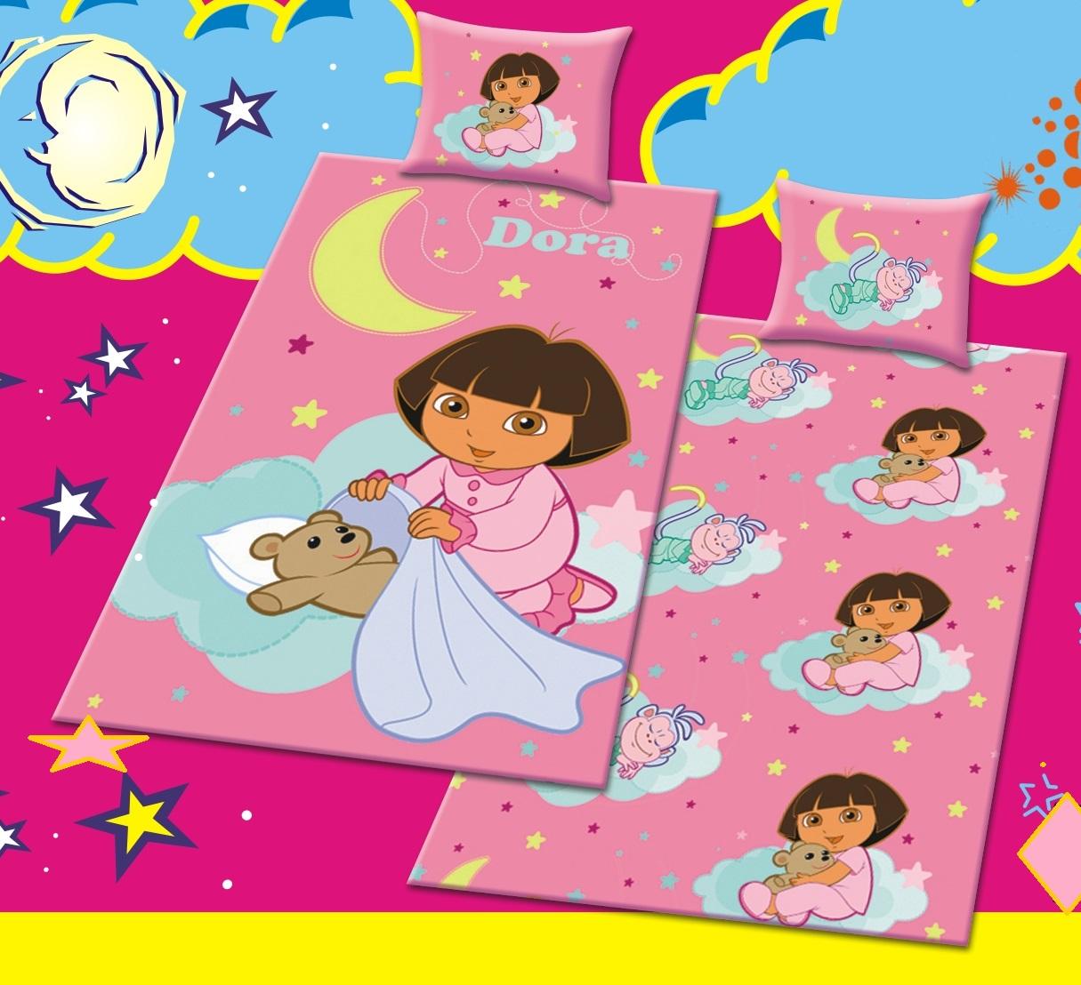 Κουβέρτα Πικέ Παιδική Με Μαξιλαροθήκη Dora - OEM - 9.Κ16_πικέ λευκα ειδη παιδί κουβέρτες παιδικές