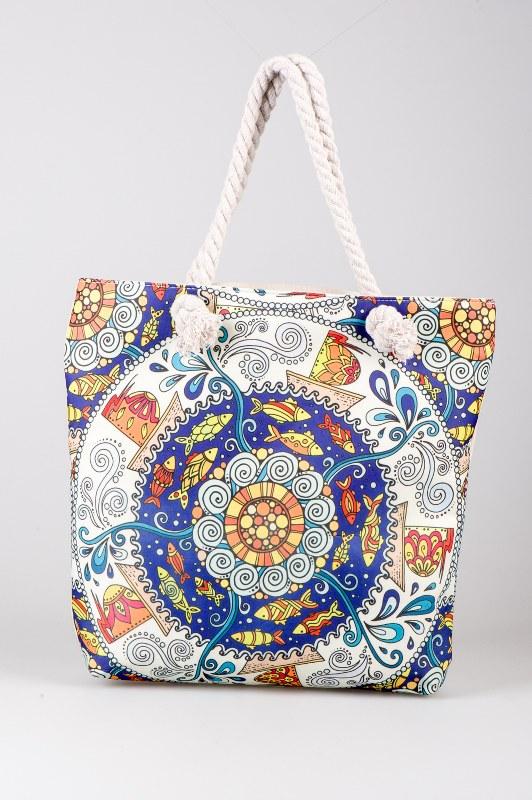 Τσάντα Θαλάσσης Υφασμάτινη 45x15x43εκ. - OEM - 865-10 λευκα ειδη θαλάσσης τσάντες θαλάσσης