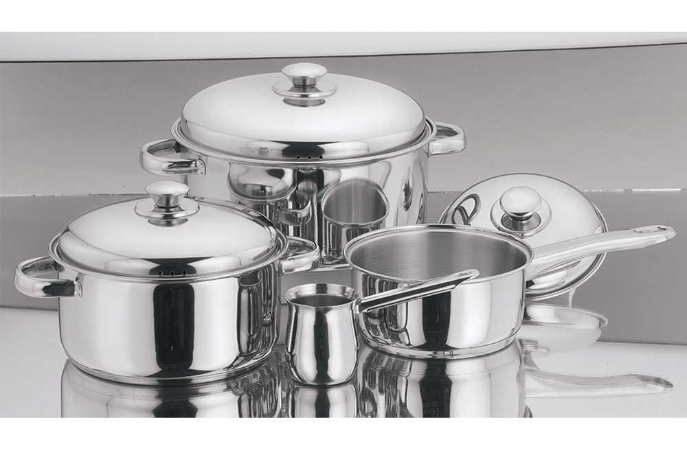 Σετ 7 Σκεύη Μαγειρικής Ανοξείδωτα – VELTIHOME – 60070