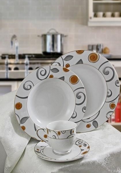 Σερβίτσιο Πορσελάνης 72 Τεμαχίων - AB - 6-319_gold_72 κουζινα πιάτα   σερβίτσια