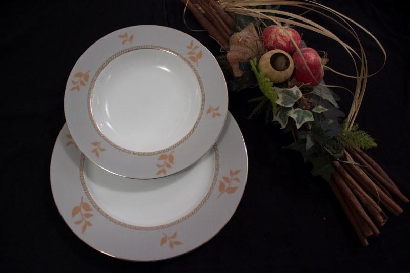 Σερβίτσιο Πορσελάνης 40 Τεμαχίων - AB - 6-224_gold_40 κουζινα πιάτα   σερβίτσια