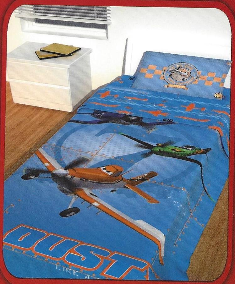 Σετ 2 Τεμαχίων Παπλωματοθήκη Παιδική Disney Planes Αυθεντική - Disney - panel_pl λευκα ειδη παιδί παπλωματοθήκες παιδικές