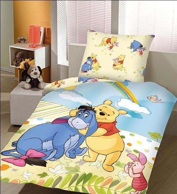 Σετ 2 Τεμαχίων Παπλωματοθήκη Παιδική Disney Winnie The Pooh Αυθεντική - Disney - λευκα ειδη παιδί παπλωματοθήκες παιδικές