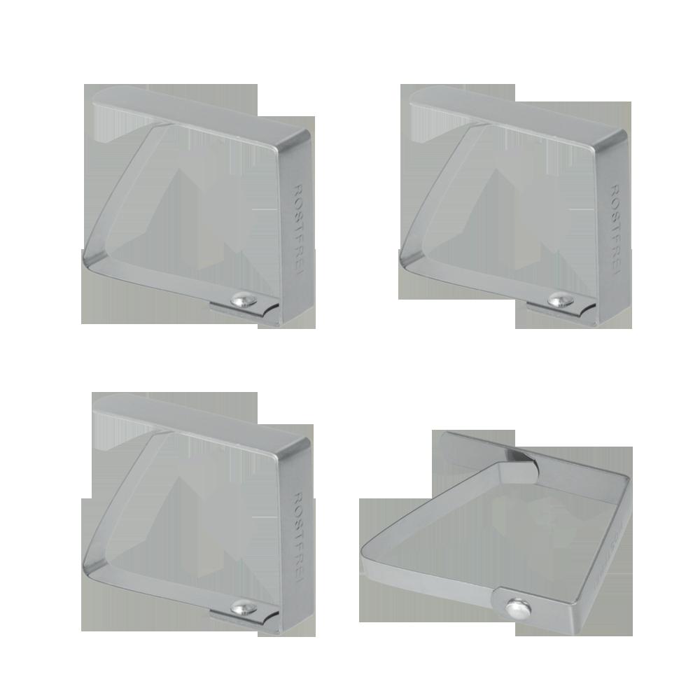 Σετ 4 Πιάστρες Τραπεζομάντηλου Ανοξείδωτες - METALTEX - 254500